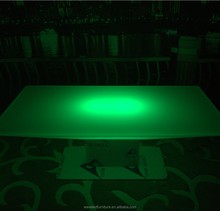 led table for restaurant coffee shop led connected table & chair