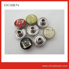 Wholesale epoxy domed jeans metal rivet/ Flatback style enamel cover transparent garment metal rivet