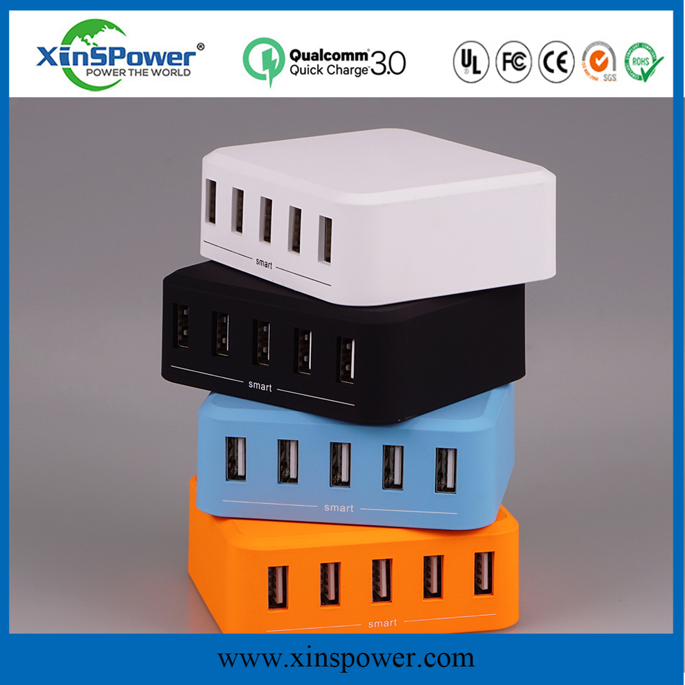 innovative AC 5V 8A OEM desktop type multi port usb charger