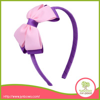 Plastic Purple Hair Bows Headband for Children