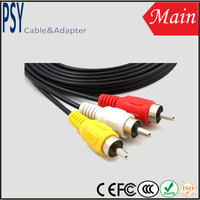 Hot selling car rca cable for audio system av cable