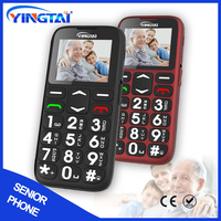 Quad Band Big Keypad SOS Button Elderly GSM Cell Phone