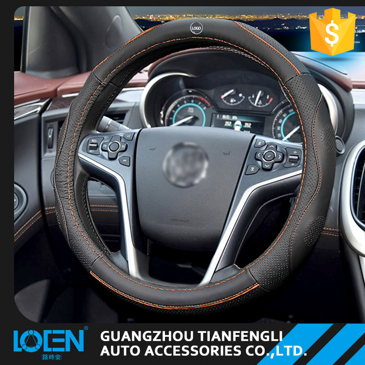 LOCEN automobiles interior part best grip deluxe cowhide leather steering wheel cover
