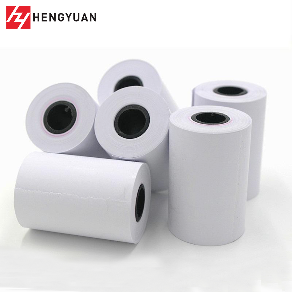 Pre printed Thermal Paper Roll Black Sensor Terminal Thermal Ticket Roll