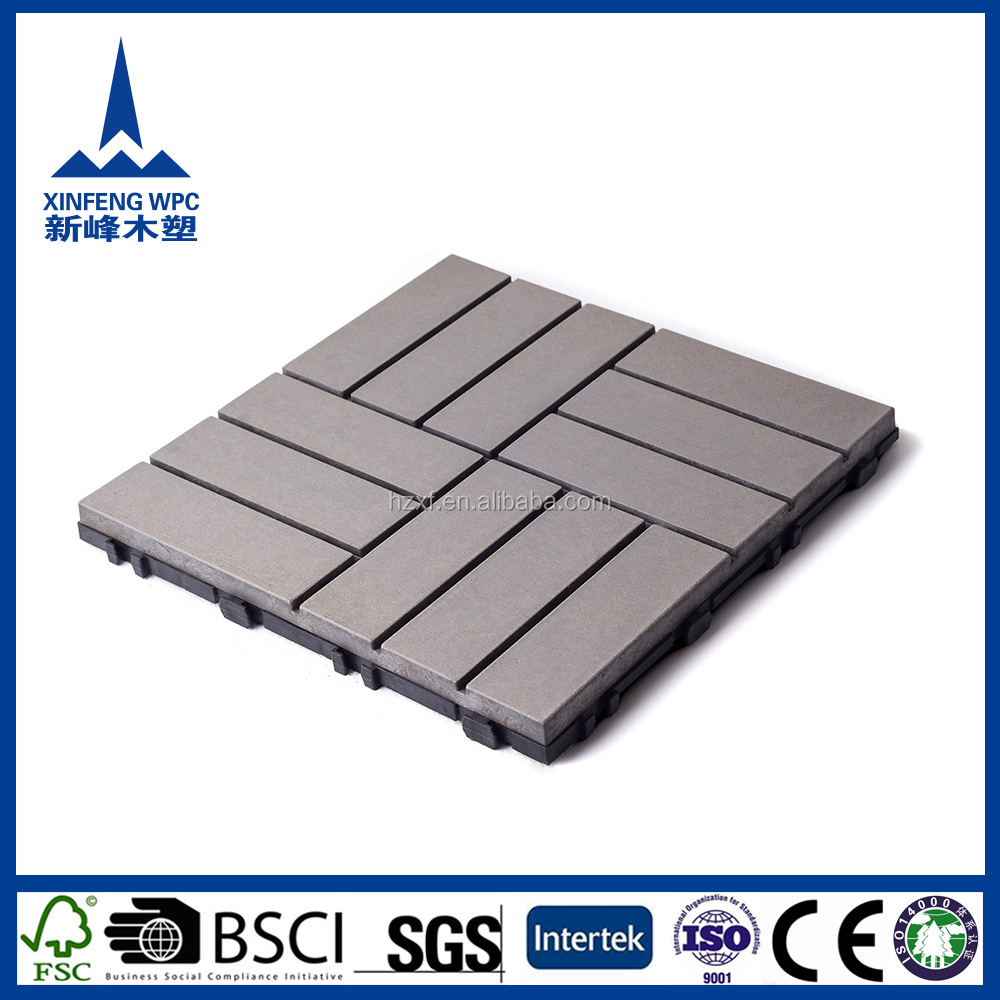 High quality white wood plastic composite flooring for trailers