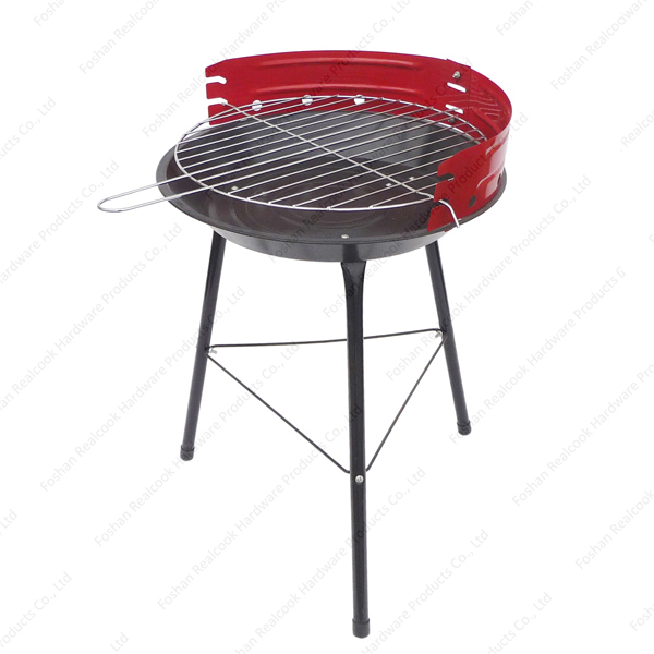 Round picnic BBQ portable charcoal barbecue