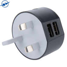 travel portable multiple usb wall socket round three pin plug universal mobile phone charger dock for sony/ipone/samsung android