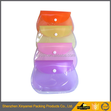 recycled green color clear transparent Wholesale printing waterproof frosted pvc plastic bra bag