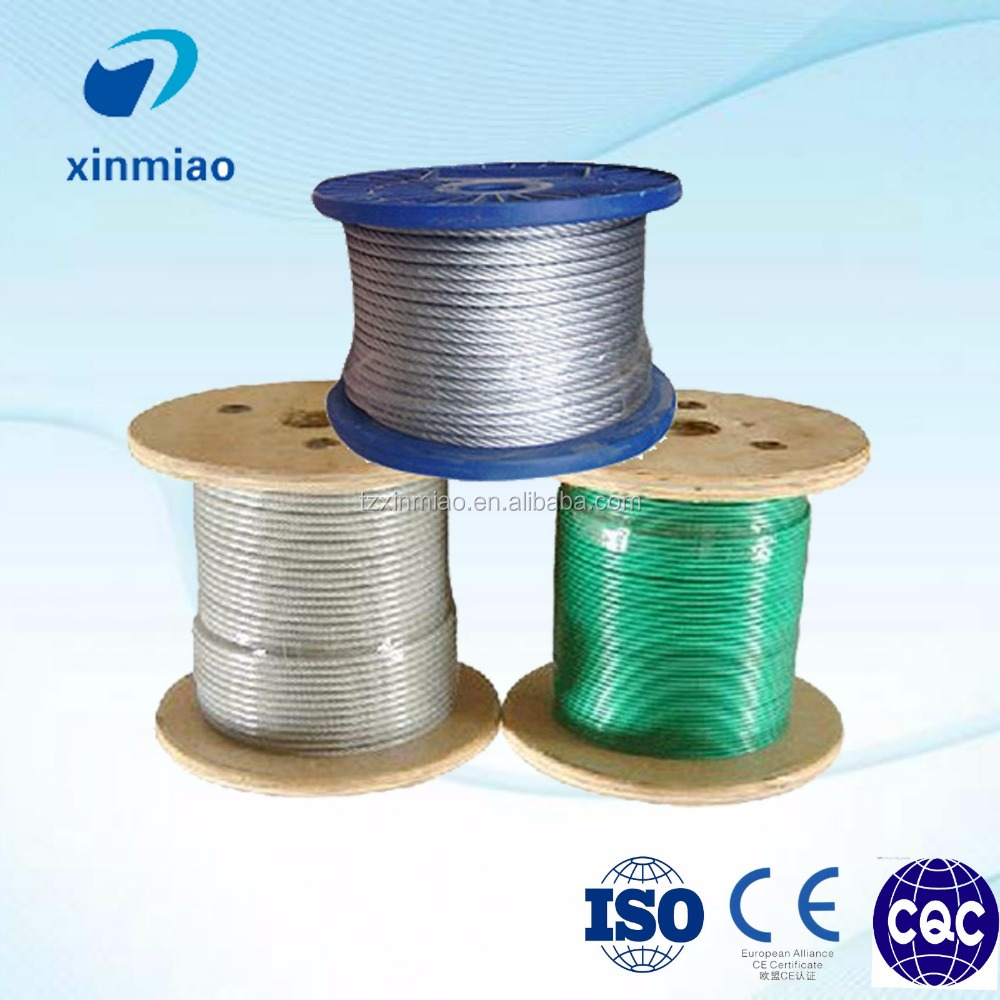 differnt color pvc coated stainless steel wire rope with best price