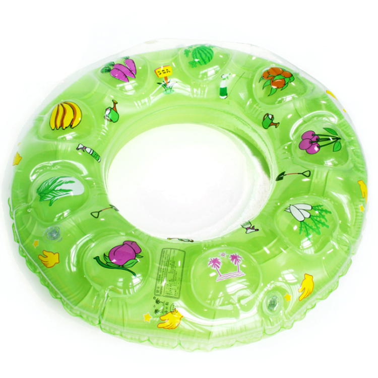China double thickening PVC children inflatable quartz floater customize swim ring