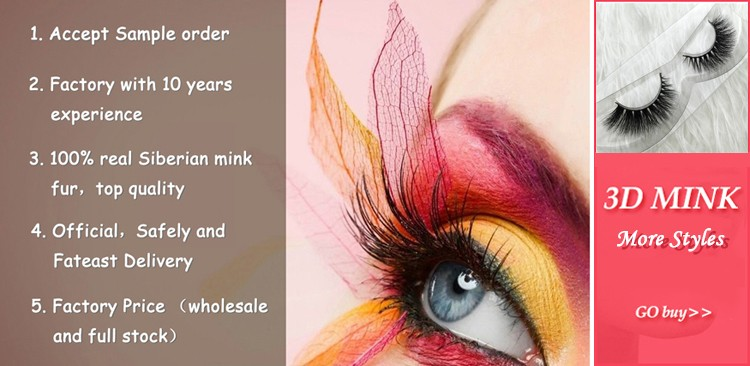 Cruelty Free 3D False Strip Eyelashes,100% mink fur lashes,Custom package with private label