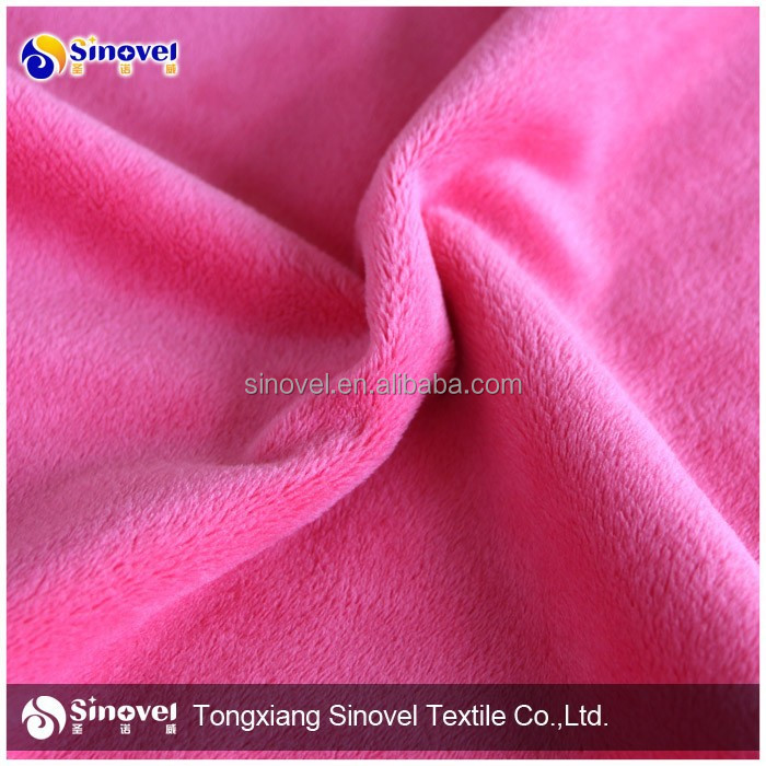 Plush fabric for making soft toys,blanket/Super Soft blanket Plush Fabric