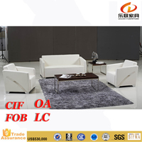 latest Modern Leather Luxury good quality italian furniture office sofa S860