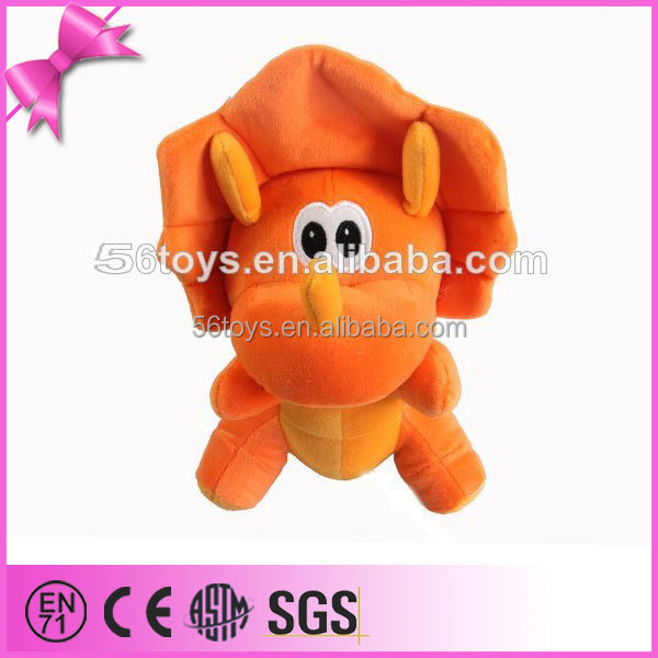 alibaba express yellow angry dinosaur plush toy
