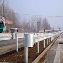 Painted Coating Traffic Barrier Beams Flexible Metallic Highway Guardrail steel construction product supplier