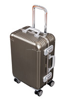 "2015 New material 20"" aluminum luggage aluminium trolley case"
