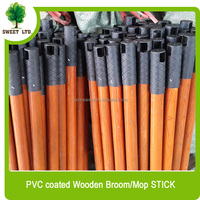 Best selling brooms wooden handle with PVC COATED popular online shopping brush handle stick