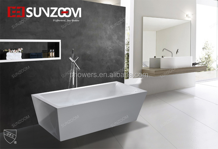 sunzoom LINEA TRADITION 15OOmm indoor hot tub, fully acrylic small size bathtub for adult