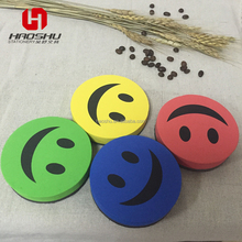 Smile Face EVA magnetic whiteboard erasers