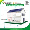 Bluesun 3kva off grid 3 phase solar panel energy system lifepo4 battery