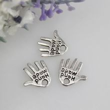 12*11MM 500pcs/bag cute metal hand shape letter charm for jewelry making