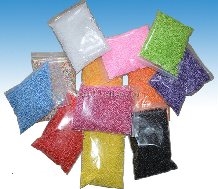 Foam Beads for DIY and Slime Supplies Colorful Styrofoam Foam good package
