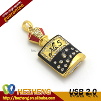 Newest Jewelry Perfume Bottle 1GB USB Flash Drive Memory Cards Lipstick with Necklace Cheap Bulk Gifts