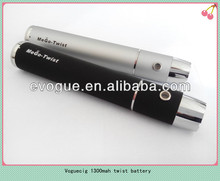 Variable voltage ego 1300mah battery strong e cigarette