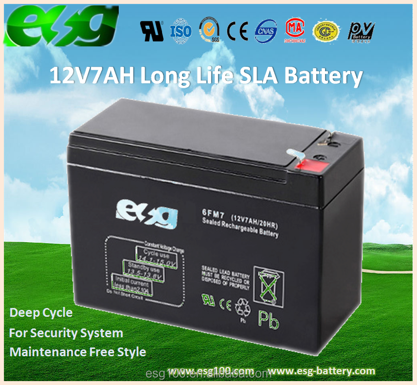 12V7AH Access Contol / UPS AGM VRLA Maintenance Free Rechargeable Storage Battery