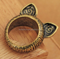 Fashion New Design Korean Style Vintage Cat Ear Women's Alloy Finger Ring