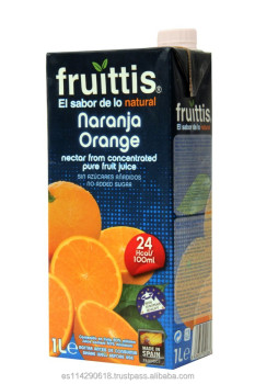 FRUITTIS orange fruit Juice nectar carton 12x1l