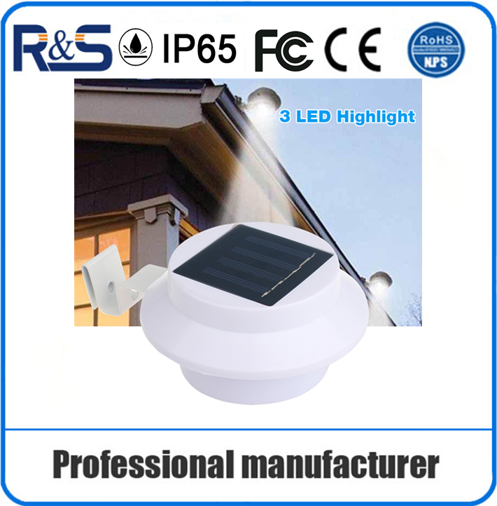 IP65 outdoor integrated solar led wall light small solar panel