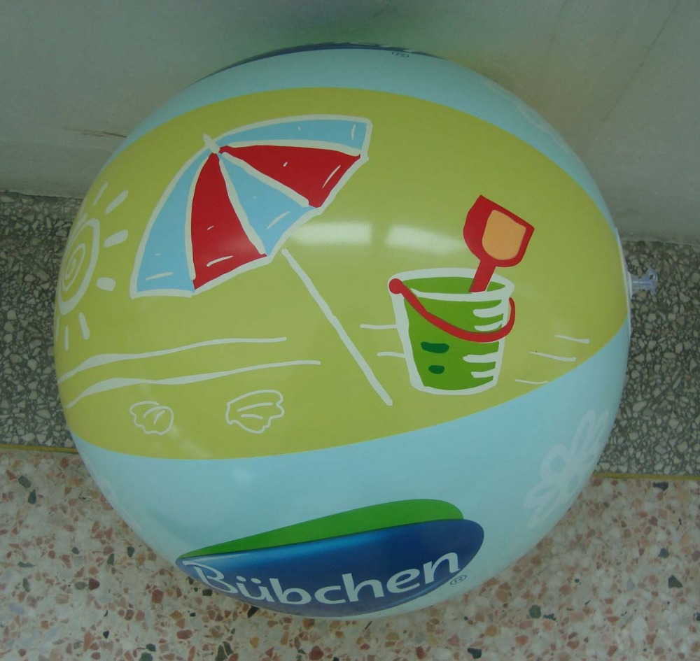 Beach ball with logo printing