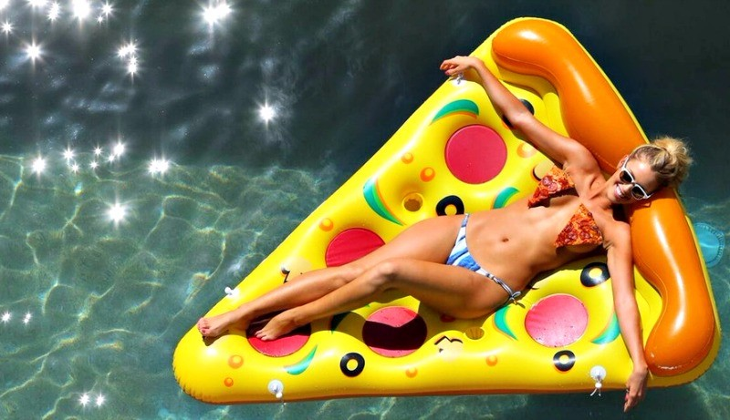 Giant air bed inflatable pizza float plastic pool unicorn float