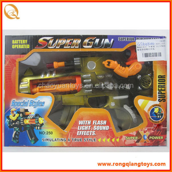 Newest plastic b/<strong>o</strong> vibration toy gun with sound and light GS9239250