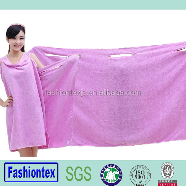 new design wearable high quality microfibre sexy bath towel