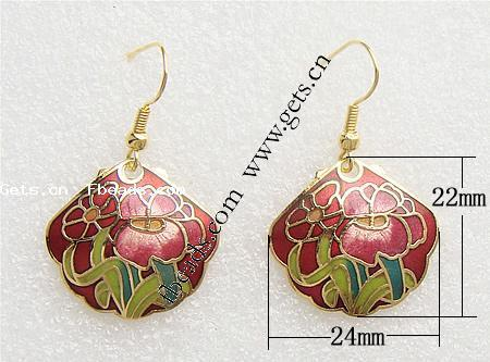 Gets.com cloisonne printed shell dangle earrings