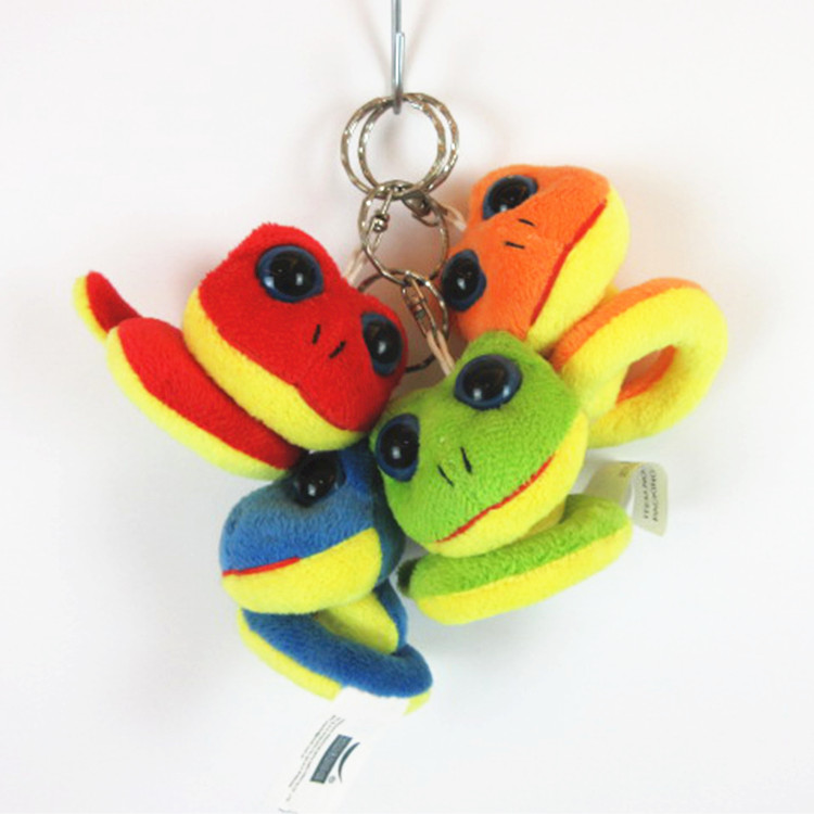 Customized cute mini plush animal snake keychain