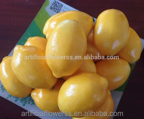 artificial fruits and vegetables plastic lemon fruit for decoration