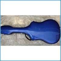 drop shipment fiberglass guitar case 41 inch,folk guitar case colorful color, guitar box waterproof