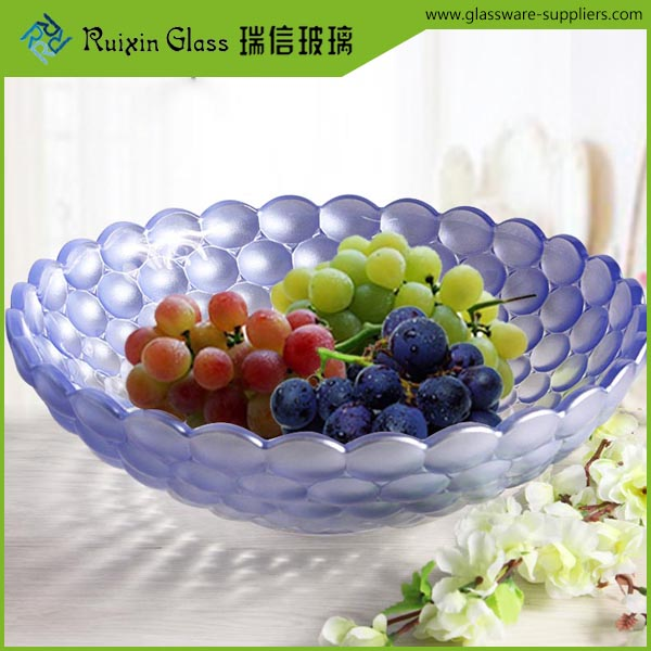 Popular blue fruit plate,acrylic fruit dish and plate for wedding