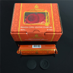 TTAN0051 Al Fakher charcoal factory price shisha/ hookah charcoal in a roll