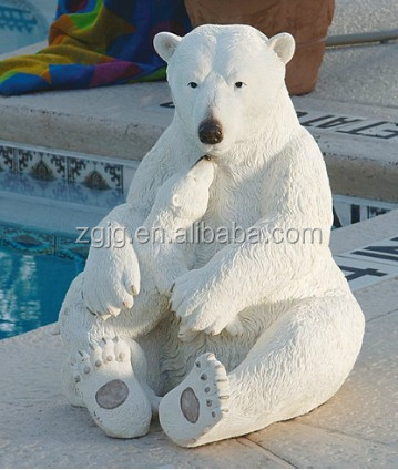 polar bear christmas outdoor lighted fence decorations