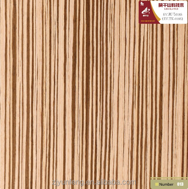 RECON WOOD VENEER Zebra FOR decoration furniture ZB-018S