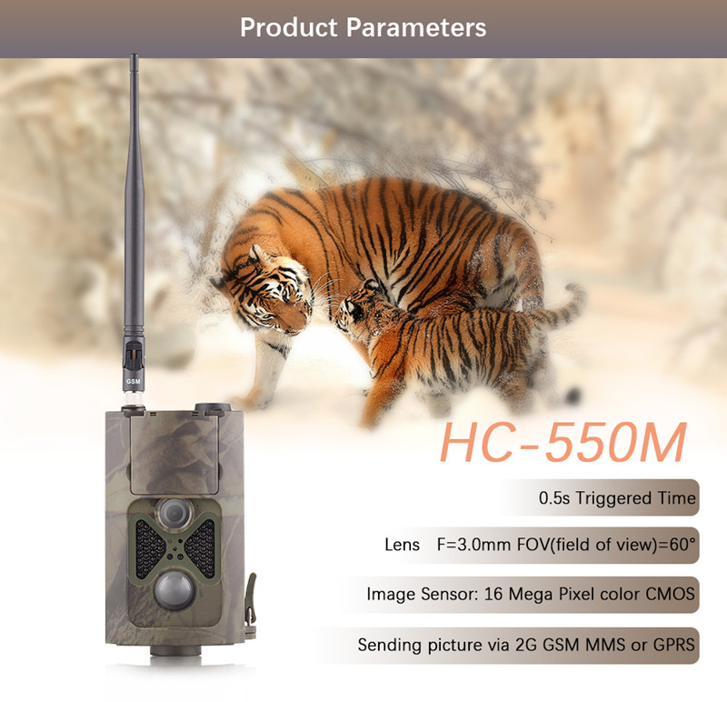 16MP Infrared Trail Camera 120 Degree Wide Angle Night Vision HC550M Photo Traps MMS Hunting Camera Traps Trail