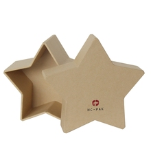 Plain cardboard extra large star shaped birthday gift boxes with lids
