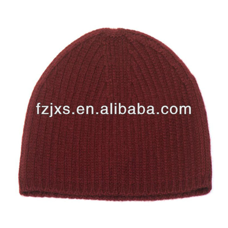 Small Order 100 % Wool Knitted Beanie Hat