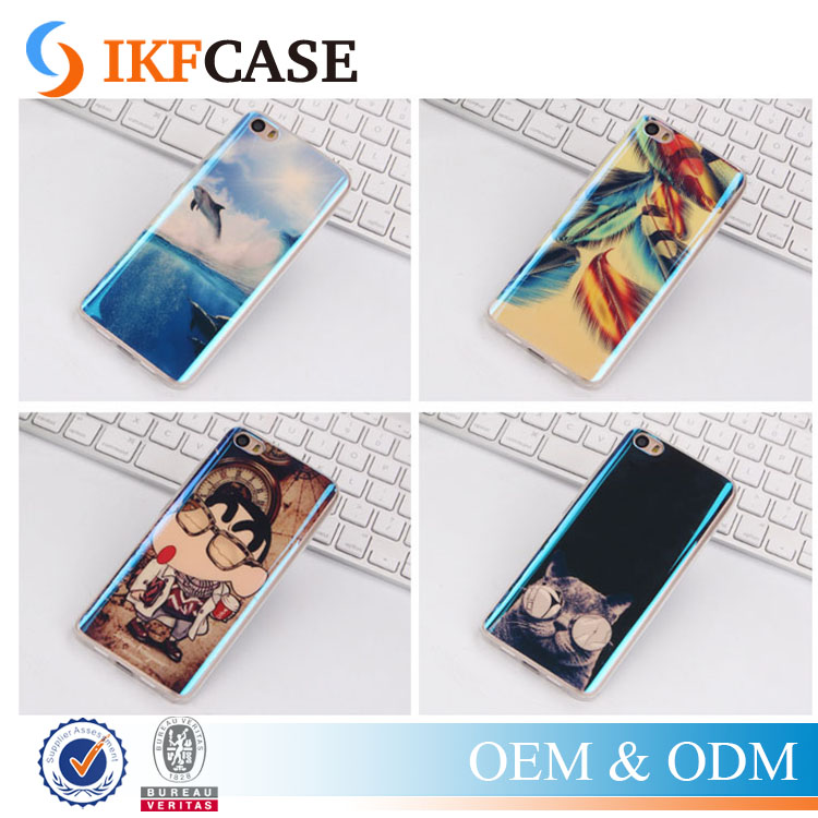 Fashion Soft TPU Cellphone Case Cover For Sony Xperia Z2/Z4/Z3 Mini Blue Ray Reflecting Cool Phone Accessories