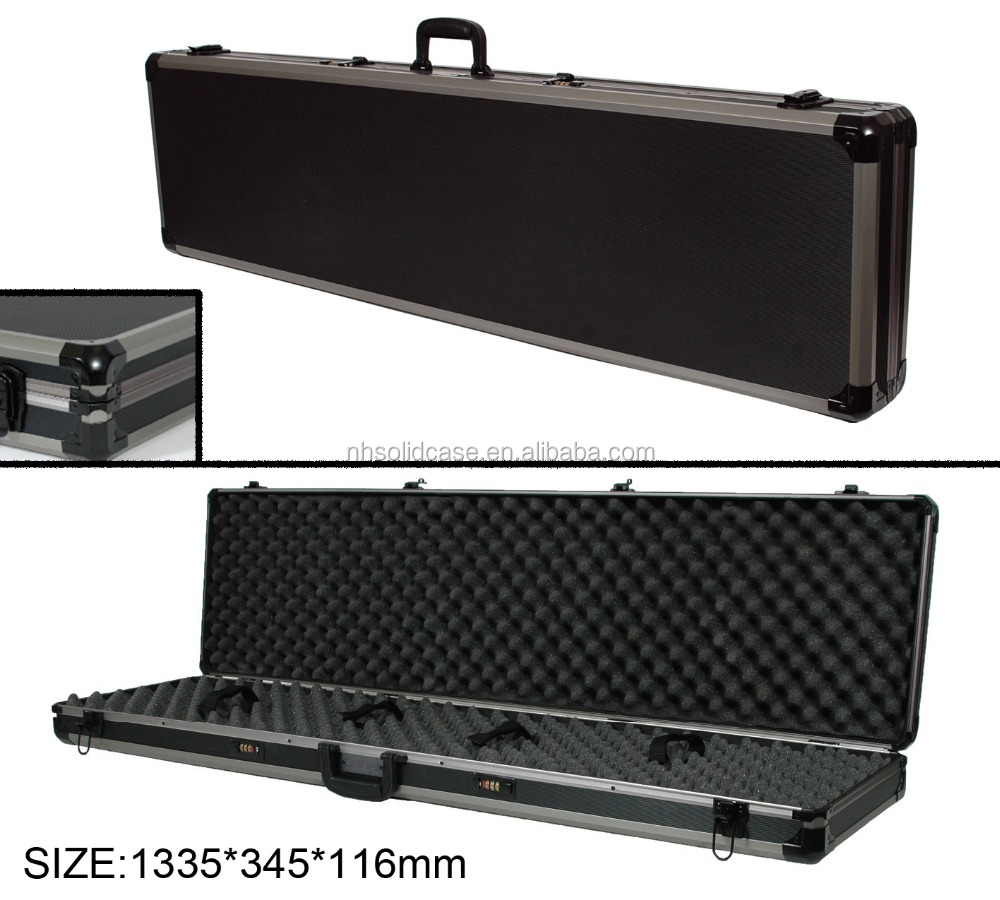 High quality hard foam insert aluminum gun case