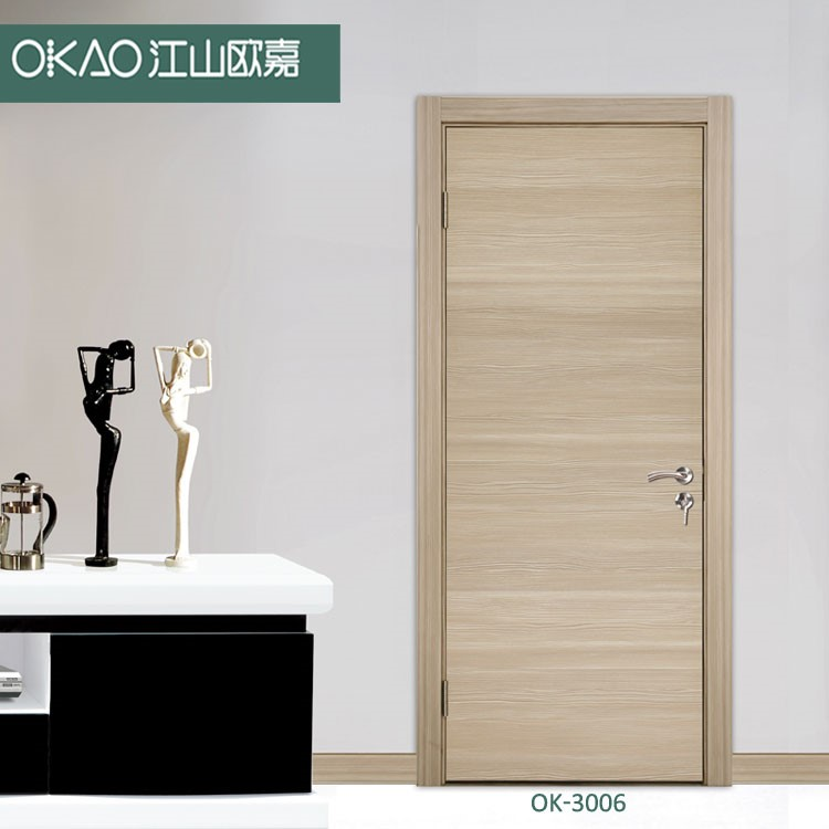 Cheap price pvc coated MDF door for interior room